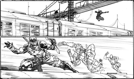 Comic Action Panel 1