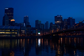 Night Reflection on the Allegheny - Rusty Lofgren