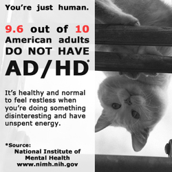 Mental Health Awareness Adult ADHD Cat