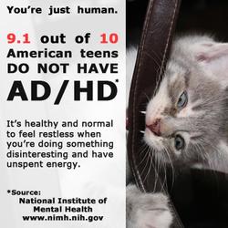 Mental Health Awareness Teen ADHD Kitten