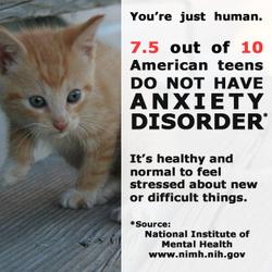 Mental Health Awareness Teen Anxiety Kitten