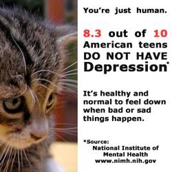 Mental Health Awareness Tenn Depression Kitten